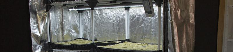 Kompletní sety vybavení pro stavbu boxu na klíčení semínek, microgreens nebo kořenění řízků